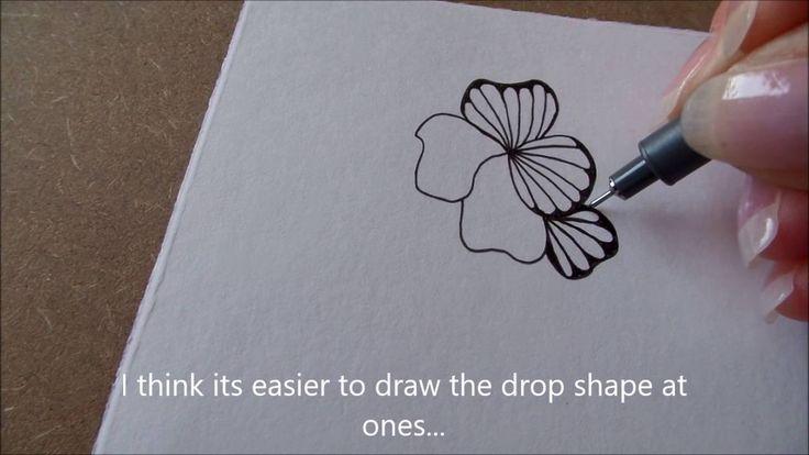 How to draw tanglepattern Ginili - YouTube