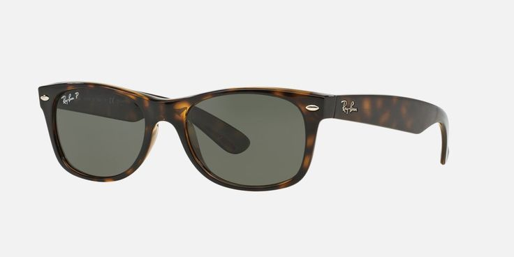 The New Wayfarer is an updated version of the original in size 55mm, with that Hollywood red carpet look! Using the same shape and style introduced in the '60s, Ray-Ban has added new color combinations that will get you noticed, like this tortoise look with green anti-reflective and polarized lenses. The B15XLT lenses provide 100% UV blocking AND good looks!