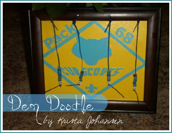 """Den Doodle """"A den doodle is a motivating weekly reward system for cub scout dens. I set out to make one of my own for my den that would be small, portable, economical, and practical. I came up with one which will work nicely for our den."""