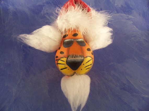 Pdf instant download christmas ornament chester cheetah  painting pattern recycled lightbulb