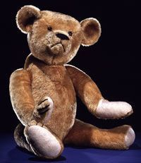 The first official teddy bear in the US is attributed to Brooklyn, NY, shopkeeper Morris Michtom and his wife Rose. This first bear named for President Theodore Roosevelt was donated to the Smithsonian National Museum of Natural History, where it is currently on display. Credit for the first teddy bear must be shared with Richard Steiff and the Steiff Company of Giengen, Germany, who about the same time was producing a jointed stuffed bear.