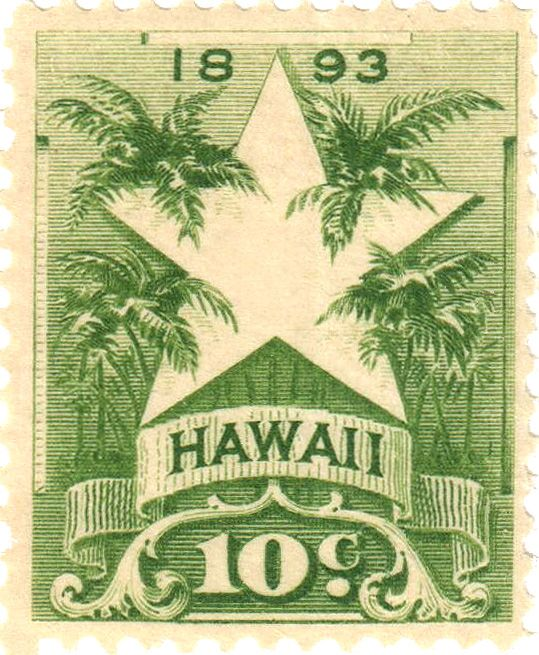 1893 Hawaii stamps 10¢