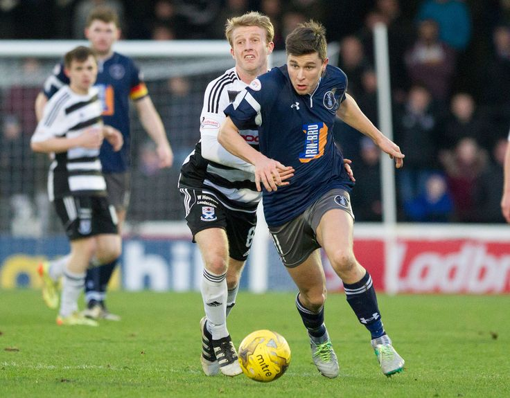 Queen's Park's Sean Burns in action during the Scottish Cup round 4 game between Ayr United and Queen's Park.