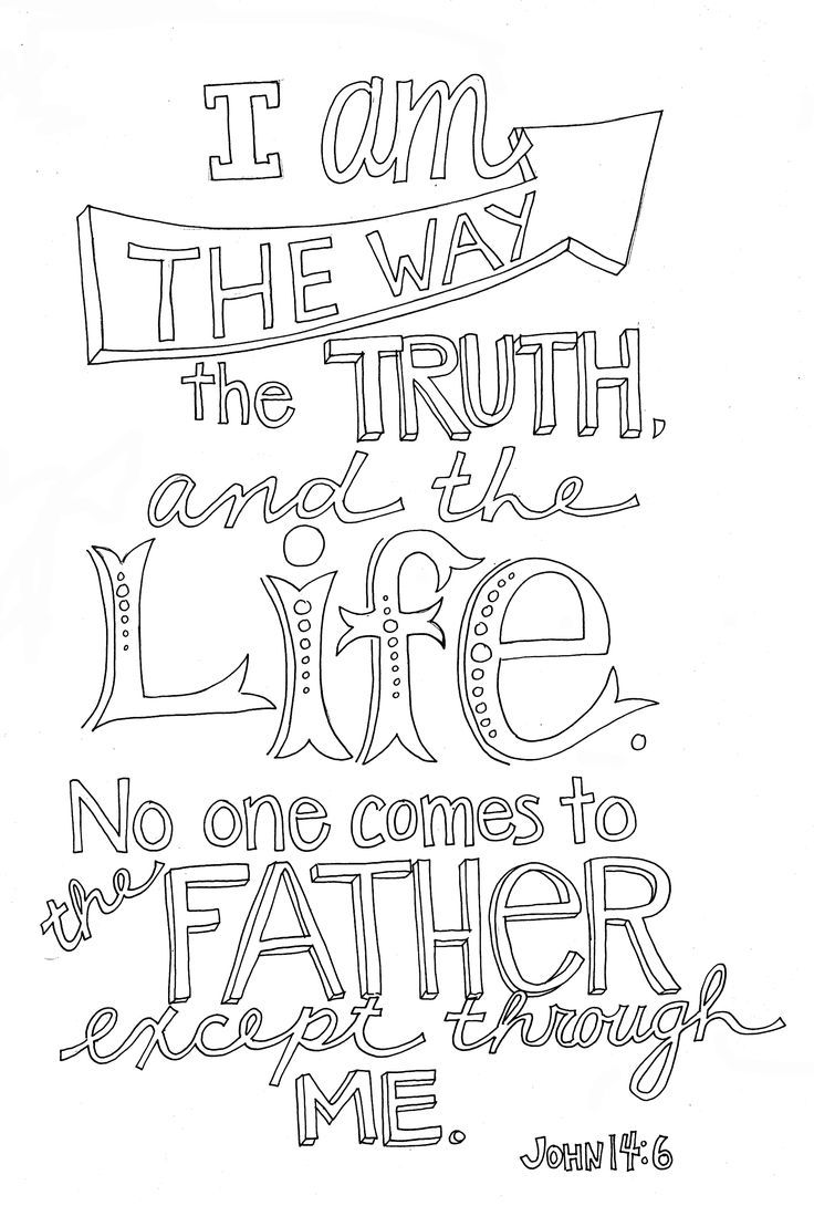 Coloring pages for donna flor - John 14 6 More Scripture Doodlebible Coloring Pagescoloring