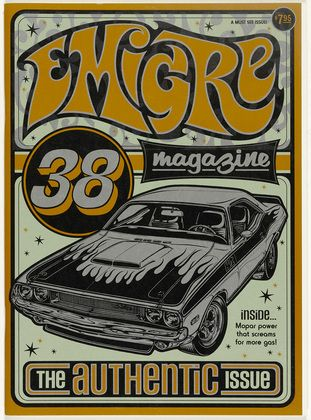 cMag637 - Emigre Magazine cover by Rudy Vanderlands & Zuzana Licko / Nº 38, The Authentic Issue / 1996