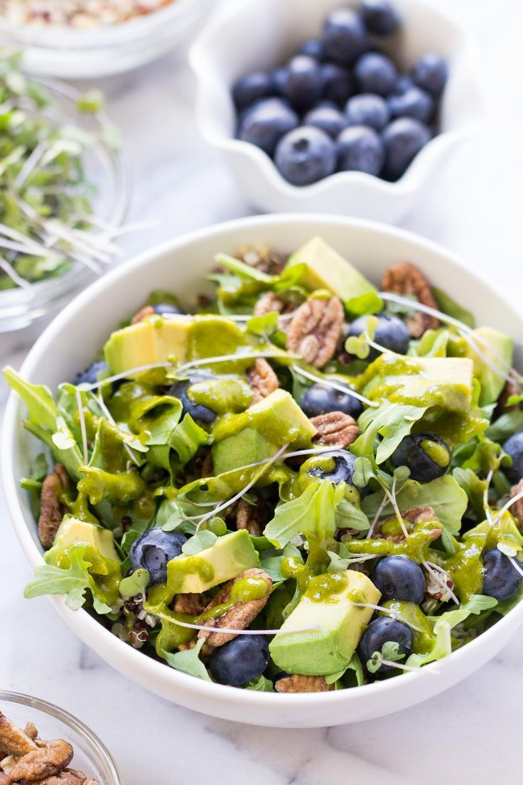 This healthy quinoa power salad is packed with detoxifying ingredients and is perfect for summer. High in protein, fiber and vitamins, it's also vegan + GF!