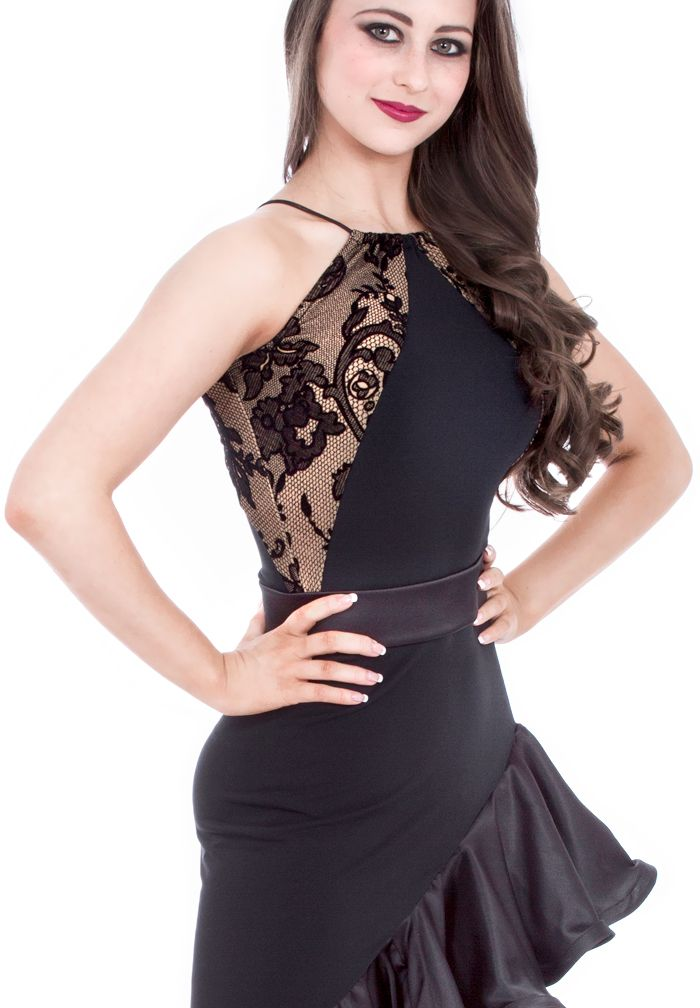 DSI Maggie Lace Latin Top 3497   Dancesport Fashion @ DanceShopper.com