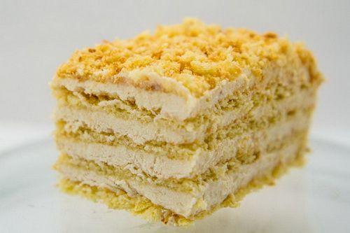 Торт с творожно-банановым кремом