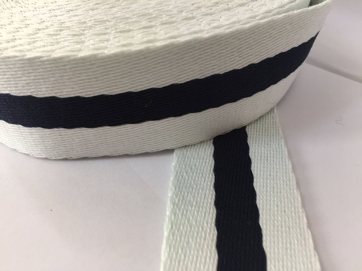 "1.6"" (4 cm) wide White and Navy stripe belt webbing,  Nautical Belt webbing, Strap webbing, High Quality Belt Webbing, by NoaElastics on Etsy"