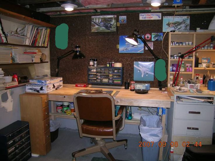 my hobby cave workbench area show us your stash. Black Bedroom Furniture Sets. Home Design Ideas