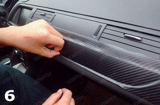 How to apply carbon fiber vinyl sheet for car interior trim