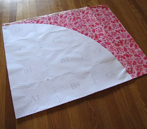 """Free printable template to cut circles (1""""-58"""" diameter). Great for circle skirts, tablecloths, tree skirts."""