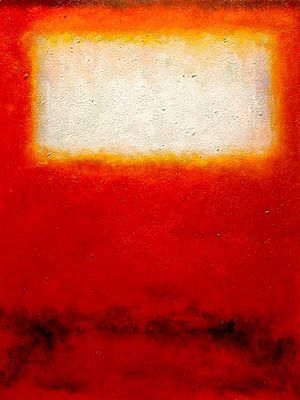 White over Red 2  Mark Rothko (inspired by)