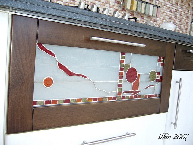 Kitchen Cabinet Door Stained Glass