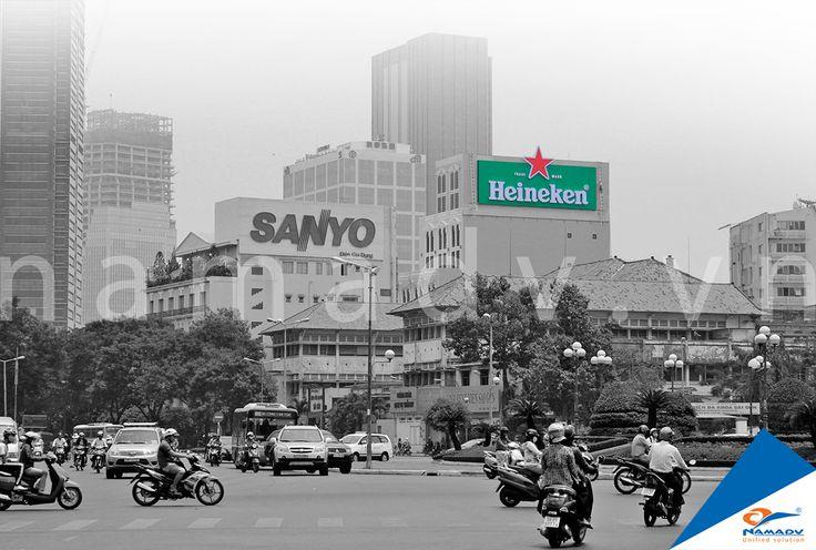 Bảng quảng cáo Heineken - 121 Lê lợi, Phường Bến Thành, Quận 1, Tp. HCM
