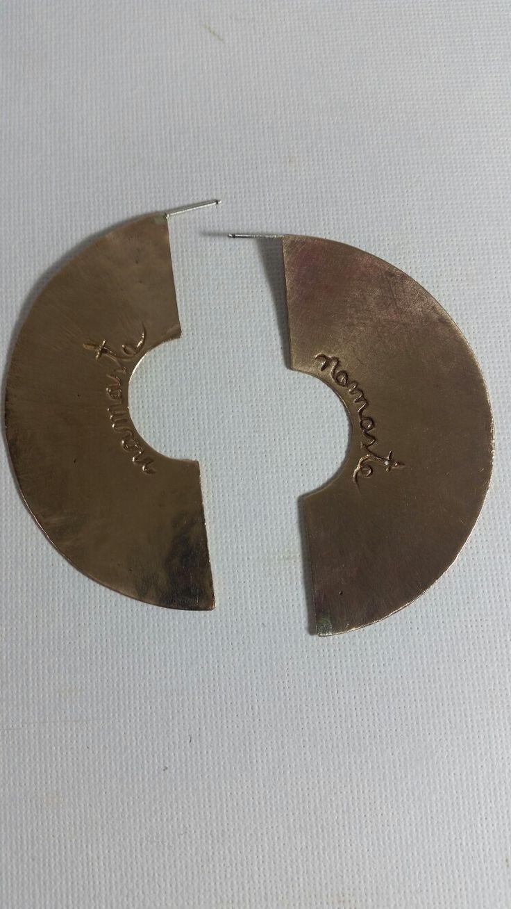 aretes en arcilla metalica de bronce