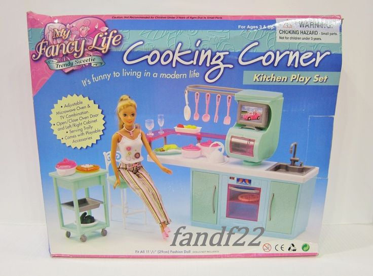 new gloria barbie licca doll furniture cooking corner kitchen play set in dolls u0026 bears dolls barbie
