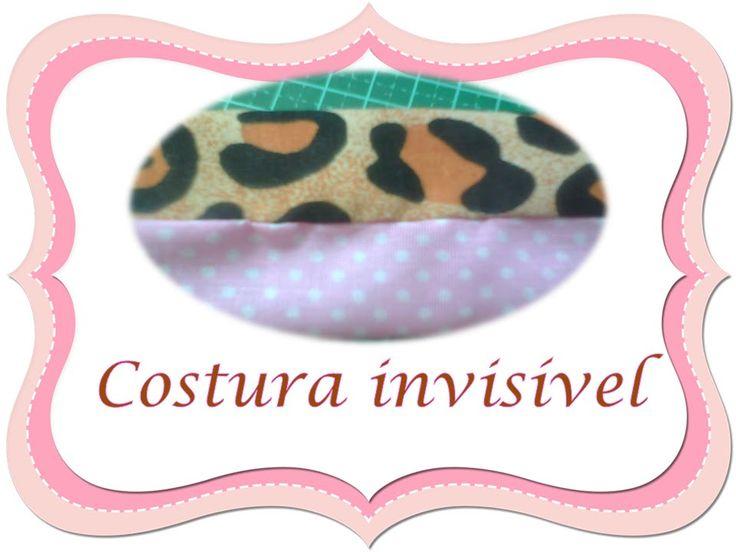como fazer costura invisível