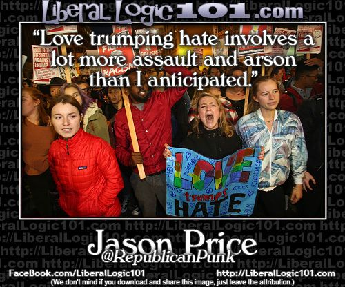 "As we've seen before Liberals have a really odd definition of ""love"" & of ""hate""…"