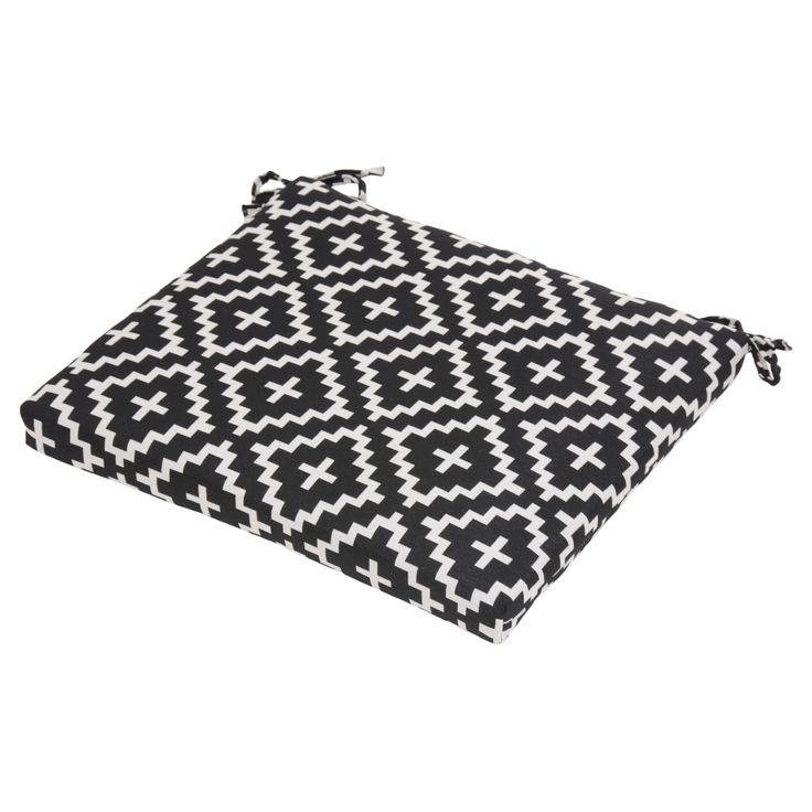 black and white outdoor chair pad cushion Target