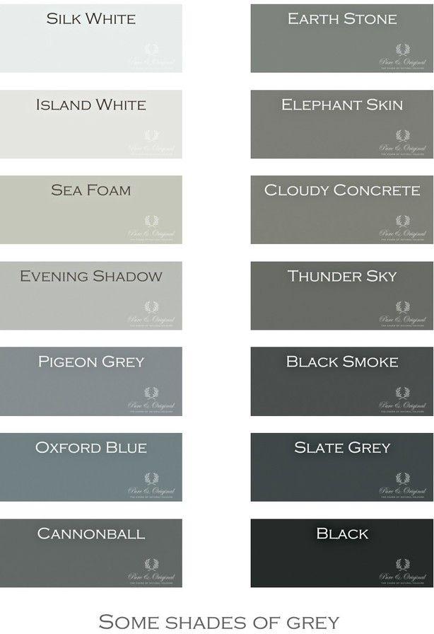 Een kleine selectie van de Pure & Original kleuren. Zijn er geen 50, maar wel erg mooi. Meer kleuren kun je zien op bij ons op de site.