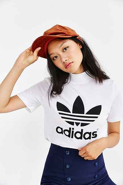 Shop adidas Originals Berlin Trefoil Mock-Neck Tee at Urban Outfitters  today. We carry all the latest styles, colors and brands for you to choose  from right ...