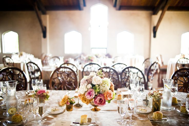 The table setting. Beautiful flowers thanks to Sag Harbor Florist