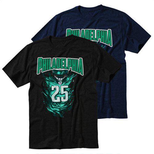 Black+Men's+Tshirt+Philadelphia+Eagles+NFL+Black+Shirt+For+Men