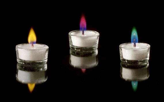 Colour Flame Cadles Burning