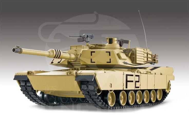 1/16 M1A2 Abrams RC Tank With Smoke, Sound and BB Gun - 2.4GHz Version