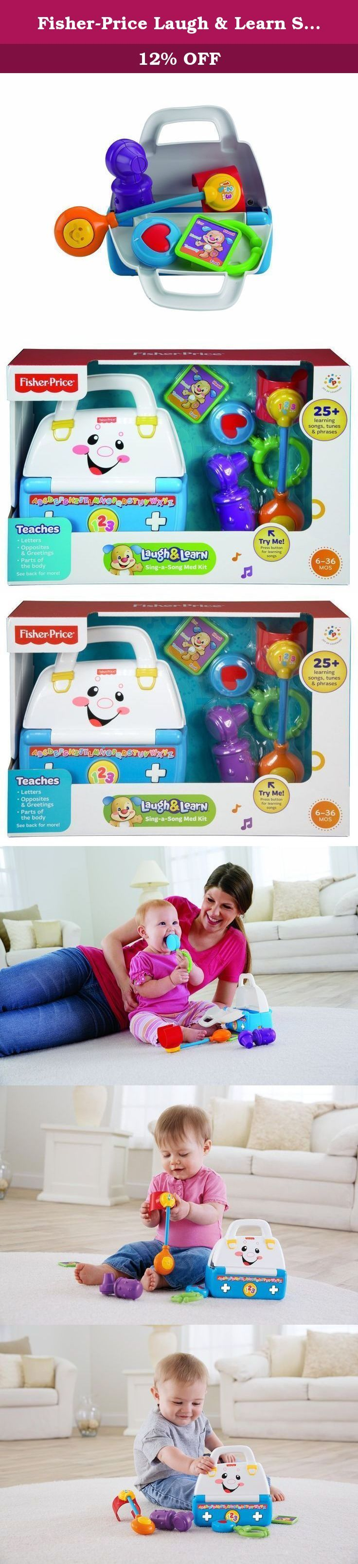 Fisher-Price Laugh & Learn Sing-a-Song Med Kit. Laugh & Learn Sing-a-Song Med Kit has different modes of play, fun songs, and lots of play pieces View larger Encourages role-play fun and sparks imagination View larger Role-Play Fun The doctor is in! Inspire role play fun with a play med kit made just for baby. It's packed full of tools that encourage imaginative play and introduce early learning concepts at the same time. Press the button on the kit to hear sing-along songs, tunes, and...