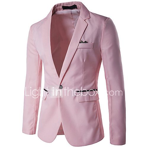 Men's Casual/Daily Work Casual Spring Summer Fall Blazer 2017 - $12.59