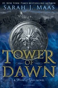 """""""Tower of Dawn  (A Throne of Glass Novel) by Sarah J. Maas Chaol Westfall has always defined himself by his unwavering loyalty, his strength, and his position as the Captain of the Guard. But all of that has changed since the glass castle shattered, since his men were slaughtered, since the King of Adarlan spared him from a killing blow, but left his body broken. His only shot at recovery lies with the legendary healers of the Torre Cesme in Antica–the stronghold of the southern…"""