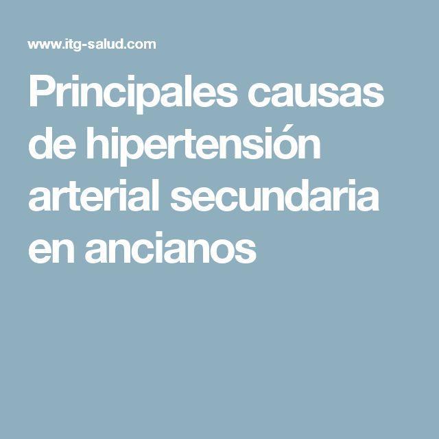 Principales causas de hipertensión arterial secundaria en ancianos
