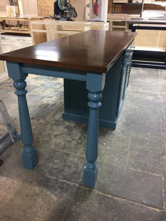 Item 160 Kitchen Island With Seating And Turned Legs Etsy Kitchen Island With Seating Island With Seating Replacing Kitchen Countertops