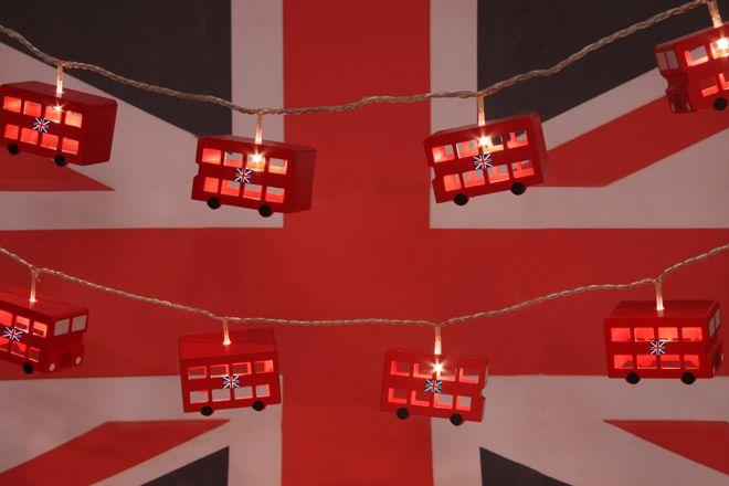 LONDON BUS LIGHTING GARLAND FROM LITTLE YELLOW BIRDS