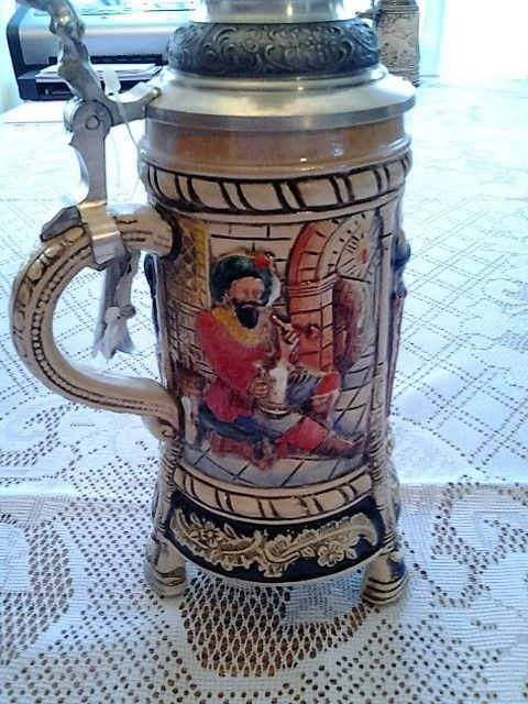 King Three footed beer stein  Number A4889