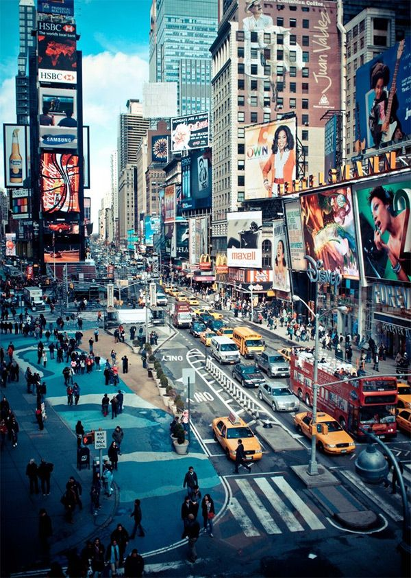 Times Square action - #NYC in World Tour: New York Photography