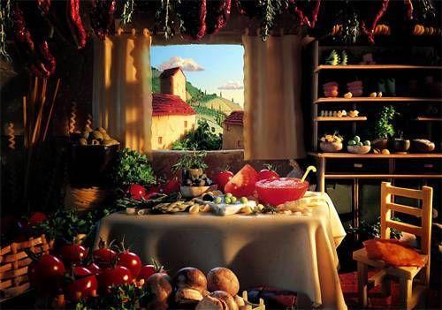 Tuscan Kitchen Тосканская кухня Карл Уорнер
