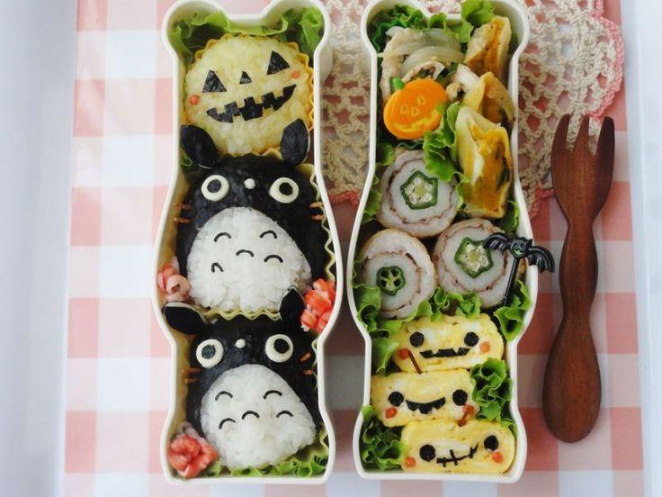 Totoro Halloween bento