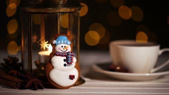 Snowman Christmas Cookie