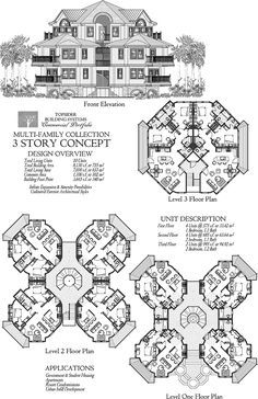 Commercial Collection COMM-Multi-Family-Residence-3-Story-10-Units-Floor-Plan (8130 sq. ft.) Bedrooms, Baths