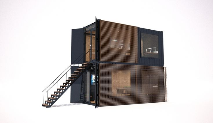 Modulable and stackable offices and creative spaces by for Container modulable