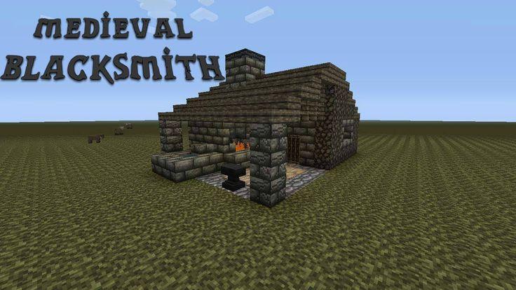 minecraft blacksmith medieval build skyrim tutorial plans creations gemerkt von