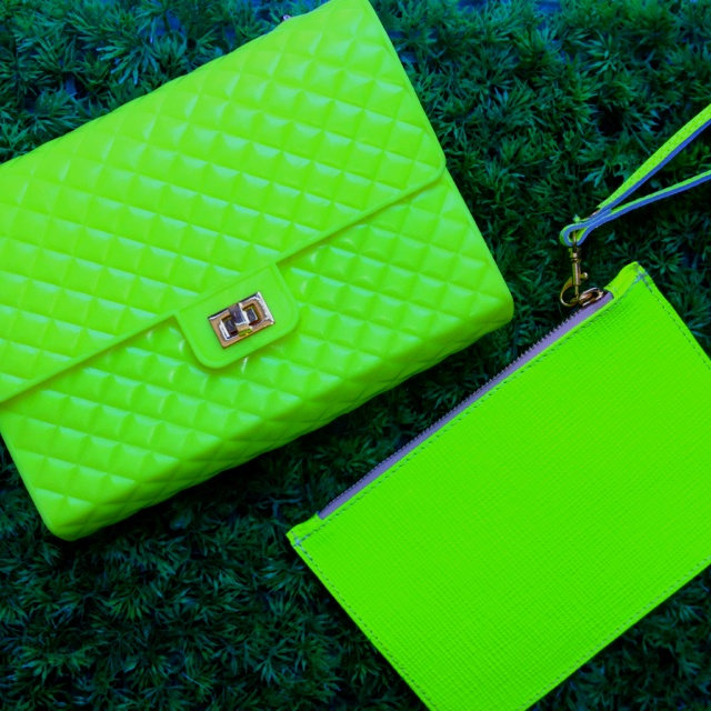 Rubber Fluo and leather mini Fluo