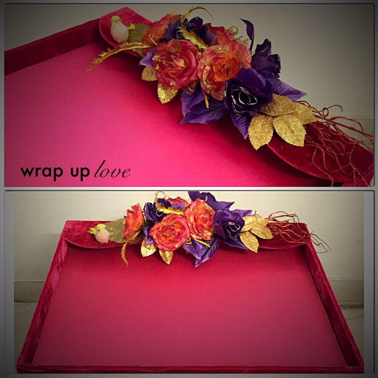 40 Best Engagement Plate Decoration Images On Pinterest Commitment Impressive Saree Tray Decoration