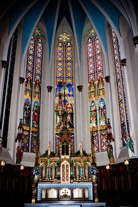 """""""Saint Joseph Roman Catholic Church, founded in 1855, is a historic German Catholic parish with a landmark church. The building is on the National Register of Historic Places and deemed 'of national importance' because of its stained glass."""" - Wikipedia"""