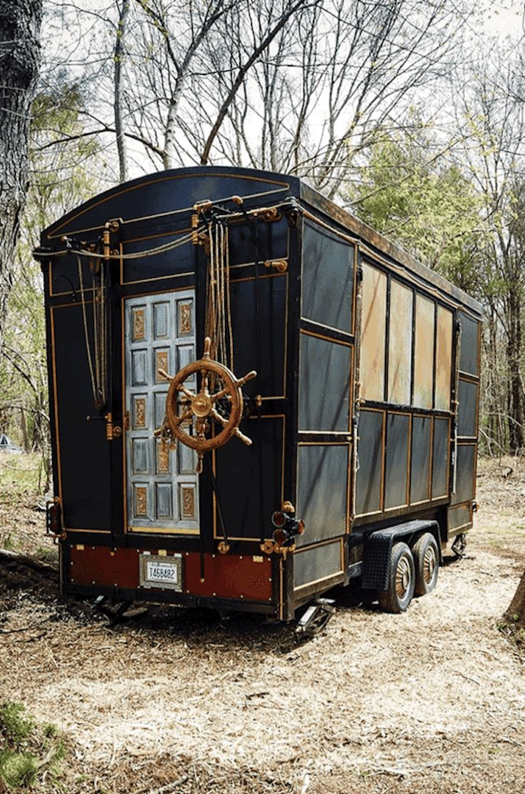 One of a kind expanding tiny house