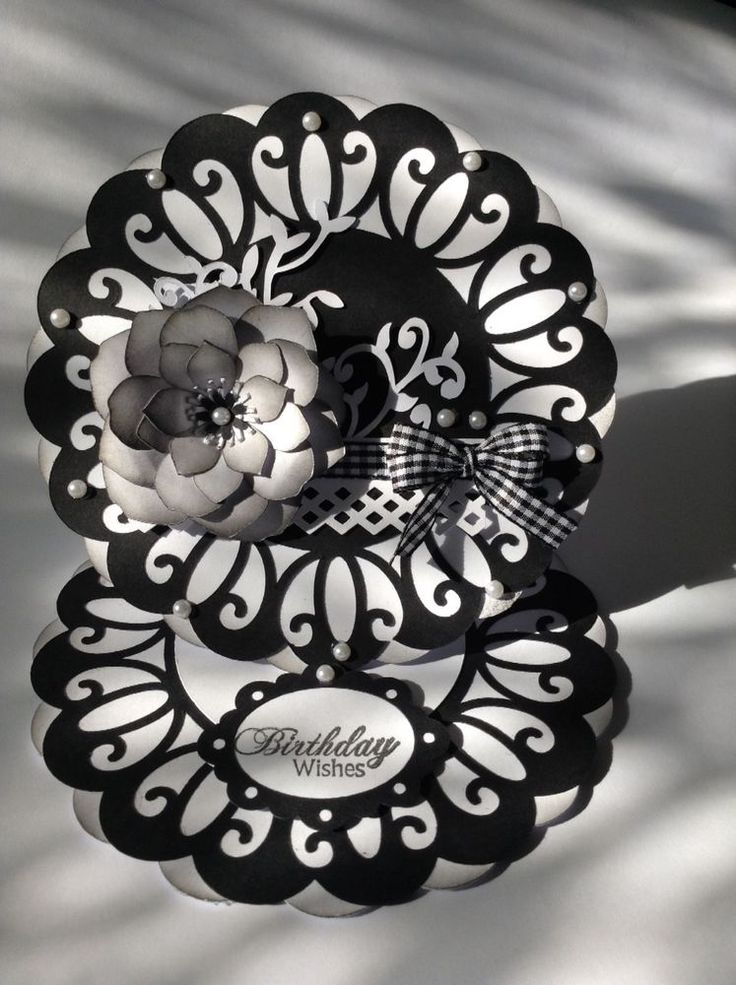Gorgeous handmade Birthday card in black and white