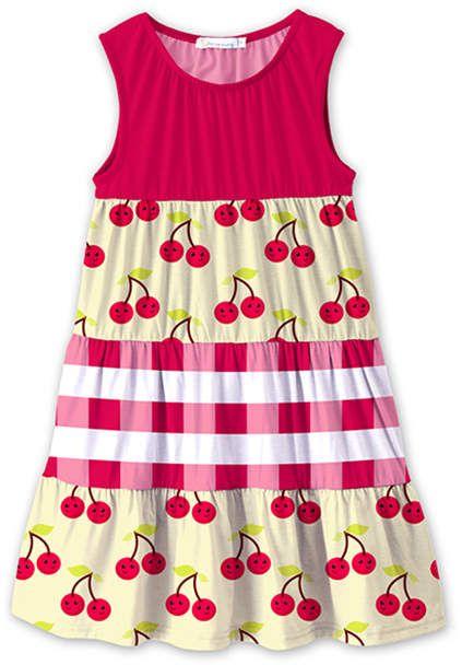 a6fec1623 Red   Light Yellow Cherry Sleeveless Dress - Toddler   Girls ...
